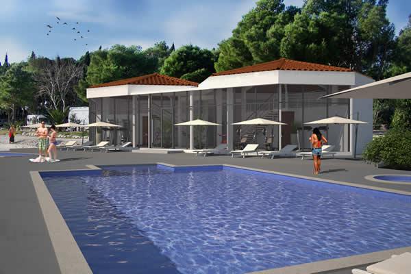 Pool, fitness, spa and wellness in Camping Stobreč Split