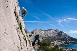 Rock climbing in Croatia, Dalmatia, Split...