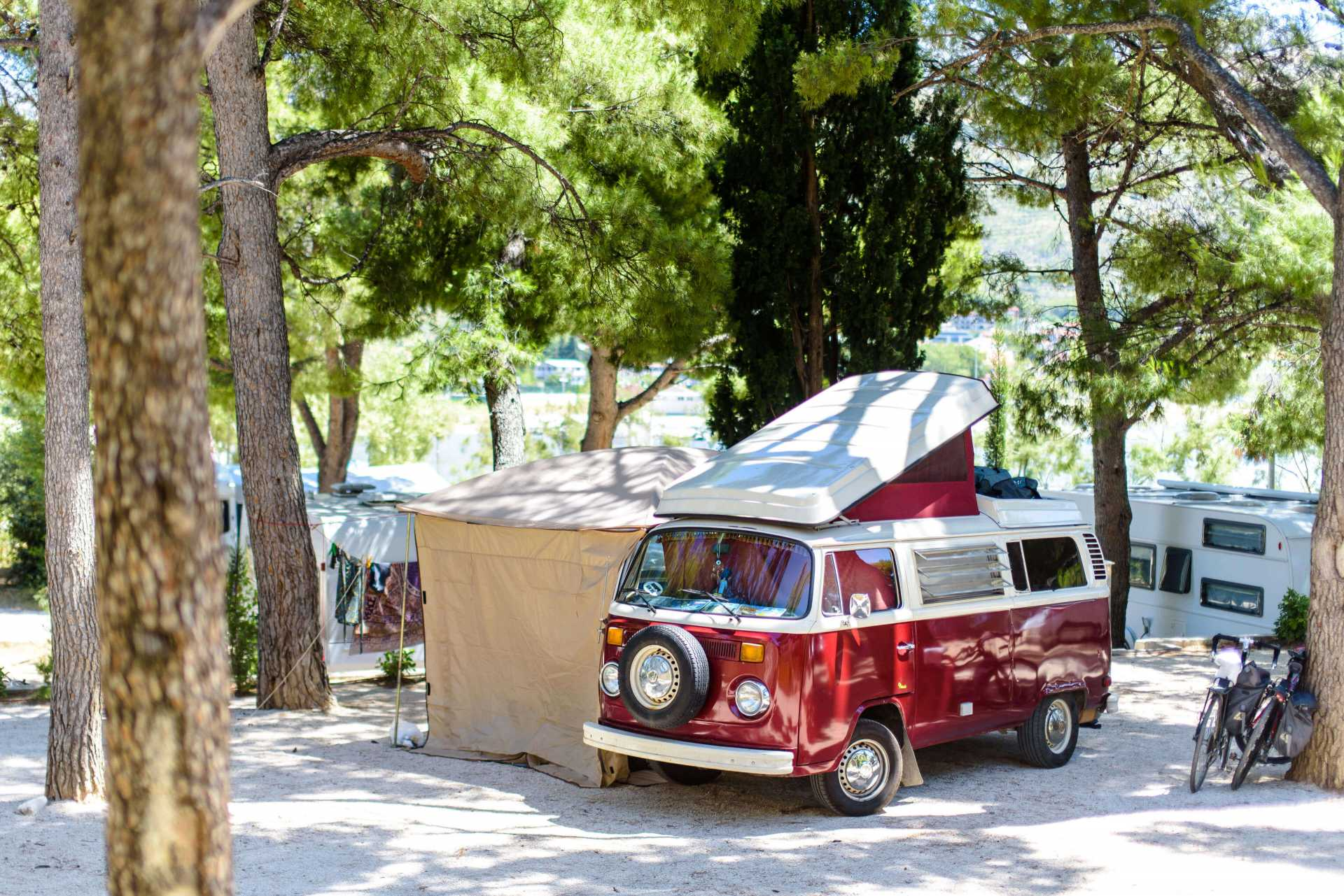 Camping pitches in Camping Split